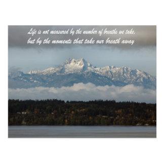 olympic mountains washington state postcard