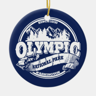 Olympic Old Circle Blue Ceramic Ornament
