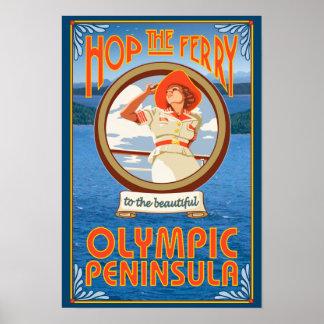 Olympic Peninsula, WashingtonHop the Ferry Poster