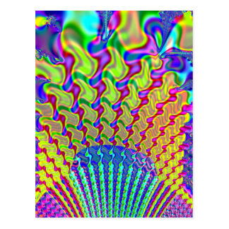 Olympic Torch Fractal Postcard