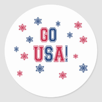 Olympic winter Games - Go the USA! Classic Round Sticker