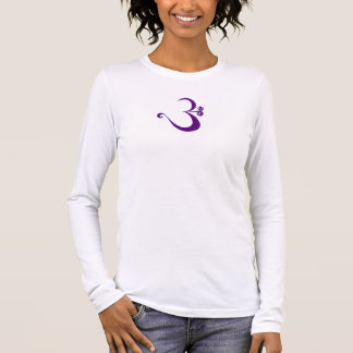 Om - alicious Ladies Long Sleeve (fitted) Long Sleeve T-Shirt