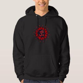 Om and Red Pinwheel - Yoga Sweater Hooded Sweatshirts