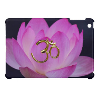 OM and the lotus flower Case For The iPad Mini