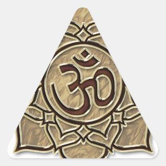 Om, Aum, ॐ ,ओ३म्, औं Triangle Sticker