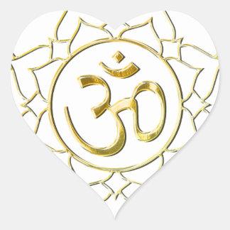 OM AUM ॐ Lotus Heart Sticker