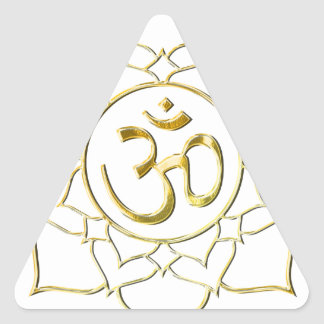 OM AUM ॐ Lotus Triangle Sticker