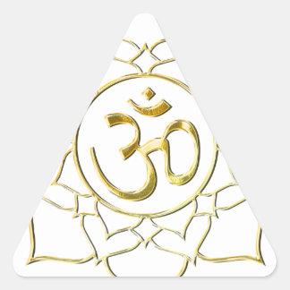 OM AUM ॐ Lotus Triangle Sticker