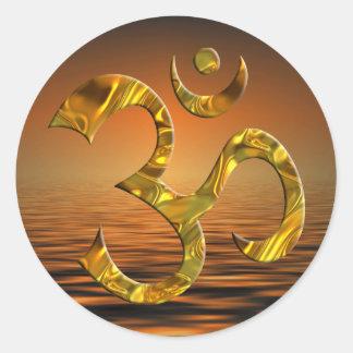 OM / AUM - GOLD | sunset Sticker