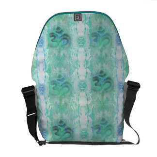 om aum pattern Rickshaw Messenger Bag