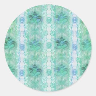 om aum pattern Sticker
