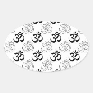 Om, Aum Symbol Oval Stickers