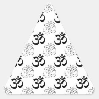 Om, Aum Symbol Triangle Stickers
