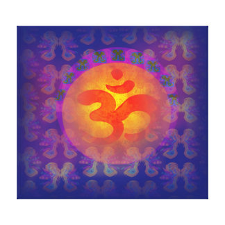 om aum symbol Stretched Canvas Print