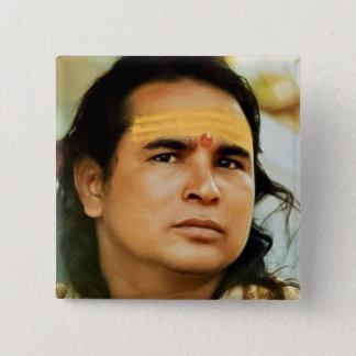 Om Babaji 15 Cm Square Badge