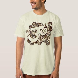 om brown Handsketch T-Shirt