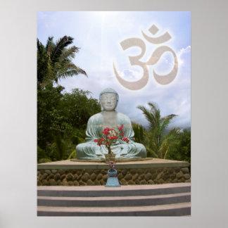 OM Buddha Poster