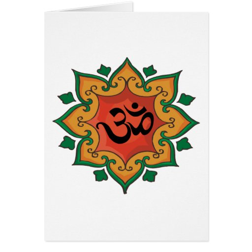 Om Greeting Cards