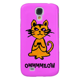 Om Cat - Yoga iPhone Cases (pink) Samsung Galaxy S4 Covers
