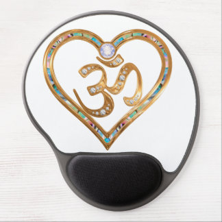 OM centered heart Gel Mouse Pad