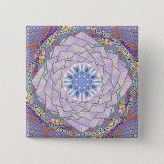 OM Dharma Wheel Lotus button