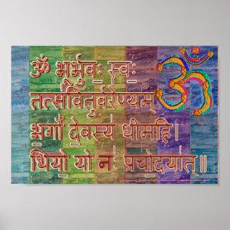 OM Gayatri Mantra Poster