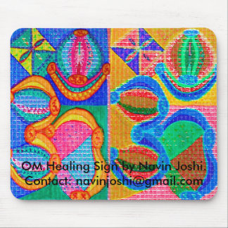OM Healing Sign by Navin J... Mouse Pad