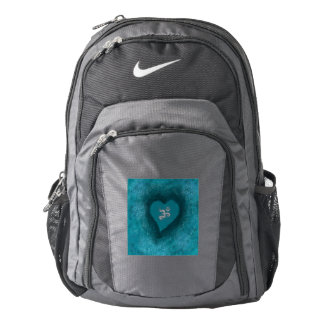 Om Heart Backpack Turquoise