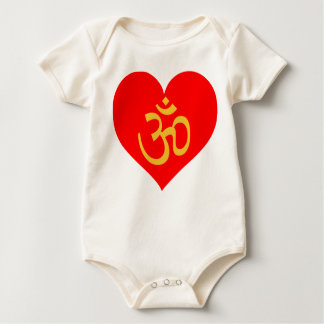 om heart infant onsie creeper