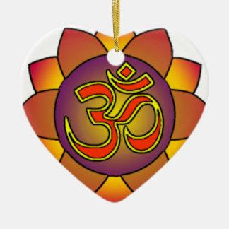 Om_in_anahatta_(gradients) Ceramic Heart Decoration