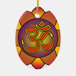 Om_in_anahatta_(gradients) Ceramic Ornament