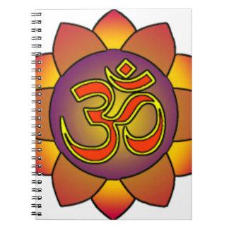 Om_in_anahatta_(gradients) Spiral Notebook
