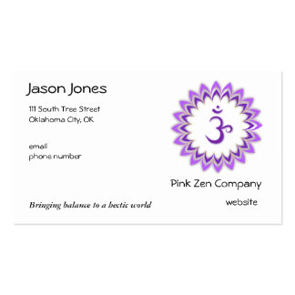 Om, in Purple and White Business Card Template