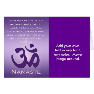 Om in Purples - Namaste Card