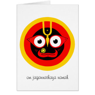 Om Jagannathaya Greeting Card