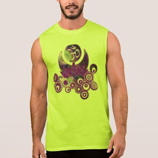 OM LOTUS Design violet Sleeveless Shirt