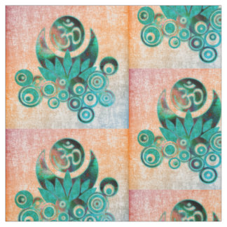 OM LOTUS ENERY batic style + your ideas Fabric