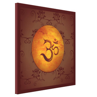 Om Lotusflower Canvas Print