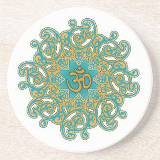 Om mandala coaster