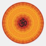 Om Mandala Design Classic Round Sticker