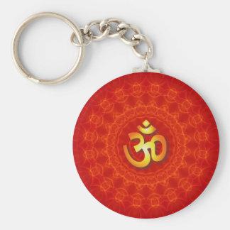 Om Mandala Design Key Ring
