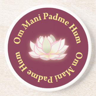 Om Mani Padme Hum Beverage Coasters