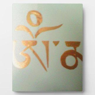 om mantra display plaques