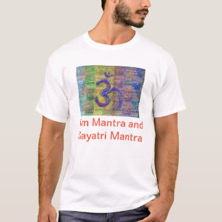 OM-Mantra Gayatri-Mantra Together T-Shirt