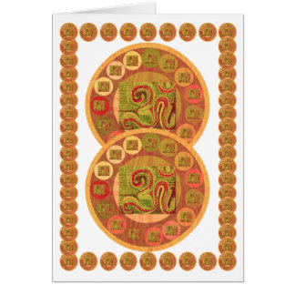 OM Mantra Gold Coins - OM108 by Navin Card
