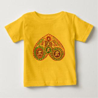 OM MANTRA in HEART T-shirt