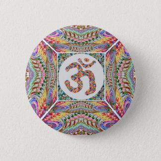 Om Mantra Jewel Collection 6 Cm Round Badge