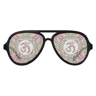 Om Mantra Jewel Collection Aviator Sunglasses
