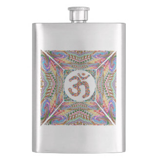 Om Mantra Jewel Collection Hip Flask