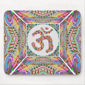 Om Mantra Jewel Collection Mouse Pad
